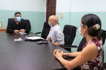 Johnson fue recibido por el Mgtr. David Torres, en representación del Decano de la FCyT, Mgt. Juan A. González y la Ing. Aris Castillo, Directora de Relaciones Internacionales de la UTP.