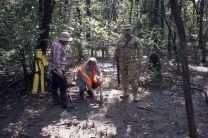 Se contó con el apoyo de unidades del SENAN quienes salvaguardaron la integridad física de los que incursionan en esa región.