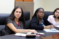 Ing. Aris Castillo recibe a la Viceministra del Ministerio de Educación Superior de Cuba.