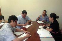 Dr. Reinhardt Pinzón, Dr. José Fábrega, Lic. Zabdy Vergara y la Sra. Geraldine Arias del OIEA.
