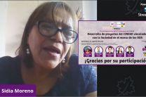 "Dra. Sidia Moreno, Proyecto ""Espacio de Aprendizaje Comunitario de Innovación Tecno- Social""."