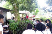 Estudiantes en el Taller de Ecología.