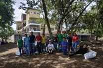 Estudiantes en el Eco Rally.