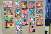 Trabajos realizados por los niños del curso de Pintura en el CITT