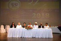 Autoridades de la Universidad Tecnológica de Panamá, participaron en la Entrega de Pines a Colaboradores por Años de Servicio y el Reconocimiento a Estudiantes Destacados de la UTP.