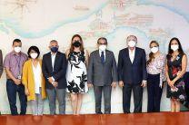 El Rector de la UTP y demás autoridades, recibieron a los profesores de la Universidad de Málaga.