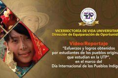 Estudiantes pertenecientes a los distintos pueblos originarios que asisten en la UTP.