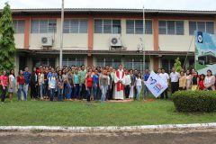 Con una Misa en Acción de Gracias e Izada de la Bandera de la JMJ, Azuero celebró el aniversario.