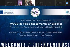 Clausura del Curso MOOC Física Experimental en Español en la UTP.
