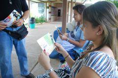Estudiantes del Centro Regional de Panamá Oeste participan en inscripción.