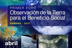 Afiche del Primer Foro de Panamá Observación de la Tierra.