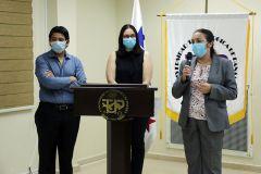 La Vicerrectora de Vida Universitaria, Ing. Vivian Valenzuela dio las palabras de inauguración.