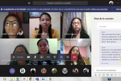 Estudiantes de Ingeniería Civil en el curso que se desarrolló a través de la Plataforma Microsoft Teams.