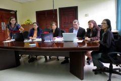Visita de la Dra. Norma Díaz, Par Externa, de la la Agencia Centroamericana de Acreditación de Postgrado (ACAP), a la Facultad de Ing. Mecánica.