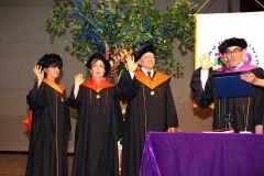 Toma de posesión del decano de la Facultad de Ciencia y Tecnología y sus dos Vicedecanas.