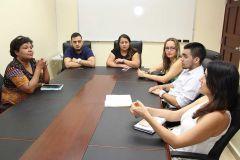Los delegados del CIAF de Colombia, coordina con representantes e la Dirección de  Relaciones Internacionales de la UTP.