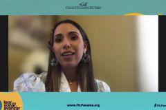 """Investigadora Yessica Sáez del Cetro Regional de Azuero, autora de """"Una Mordida a la Vez""""."""