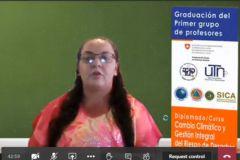 Ing. Ericka Zamora Leandro, en representación de los Docentes Graduados del Diplomado