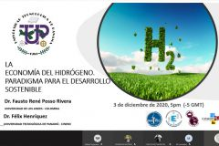"""Afiche de la Conferencia: """"La Economía del Hidrógeno, Paradigma para el Desarrollo Sostenible""""."""