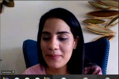 La nutricionista-dietista, Thalia Randino, dictó la charla.