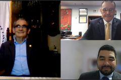 Ing. Héctor M. Montemayor Á., Rector de la UTP; Ing. René Van Hoorde, por GBM y el Dr. Juan Castillo, en representación de CIDETYS-AIP.
