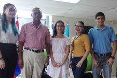 Profesor Pantaleón García Bethancour y estudiantes participantes.