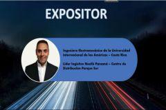 Expositor, Mgtr. Darío Moreira, Jefe Supply enFábricas Nestlé Panamá.