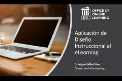 Docentes participan del Webinar Aplicación de Diseño Instruccional al eLearning.