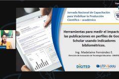 Capacitación de herramientas en Medición por la Ing. Madelaine Fernández de UTP RIDDA.