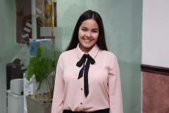 Albieth Del Rosario Sierra Portugal, estudiante de segundo año de la Licenciatura en Administración de Aviación.