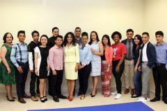 Estudiantes que participaron en la preselección del Concurso de Oratoria.