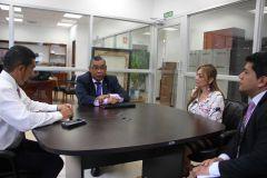 Reunión para cimentar convenio Interinstitucional sobre censos nacionales.