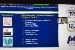 Diapositiva de la presentación de la Ingeniera Libia Batista.