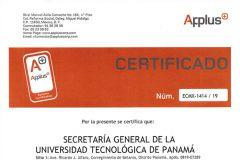 Secretaría General, fue evaluada y certificada por Applus México S.A.