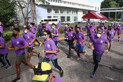 Participaron 80 corredores, entre estudiantes, docentes, investigadores y administrativos.