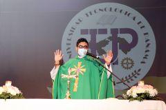 Padre Justo Rivas, Capellán de la UTP