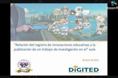 conferencia para docentes de Innovaciones Educativas