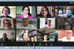 Directores de Editoriales Universitarias de Centroamérica, en reunión anual, en línea, del SEDUCA.