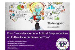 En Bocas del Toro la UTP prepara Foro la de Actitud Emprendedora.