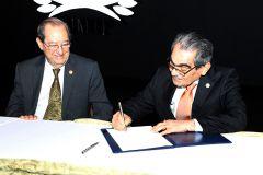 Se firmó un Convenio de Cooperación entre el Tribunal Electoral y los Rectores de Universidades.