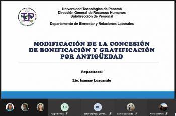 A la Licda. Isamar Luzcando, del Depto. de Bienestar y Relaciones Laborales de la UTP, le correspondió dar la capacitación.