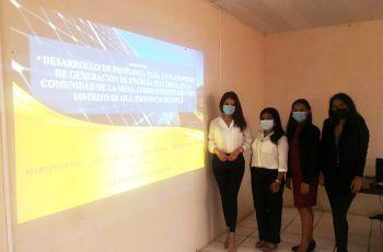 Estudiantes Marián Giono, Diana Ortega, Eyda Ortega y Melanie Villarreal