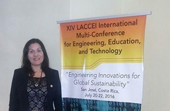Licda. Luiyiana Pérez, participando en LACCEI 2016.