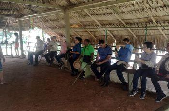 Autoridades de la UTP realizan gira a Polígonos en Cerro Pelado Gamboa.