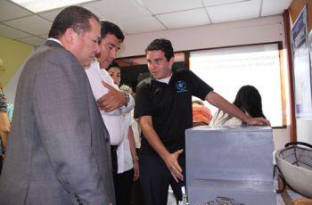 Entre los proyectos presentados se destacó un sistema de  incubación de huevos.