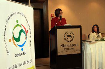 Dra.Vielka Jaramillo de Escobar, Secretaria Ejecutiva del CONEAUPA.