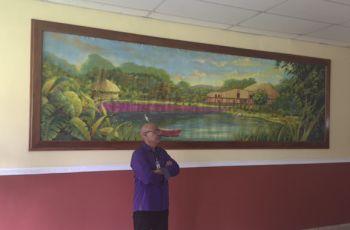 El lienzo mural fue realizado por el Maestro David Vega en la UTP Tocumen.