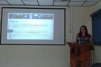 Magíster Luiyiana Pérez, en la presentación de Avances del Proyecto.