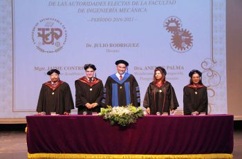 Dr. Julio Rodríguez, Ing. Jaime Contreras, Dra. Anet de Palma.