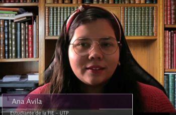 Estudiante Ana Ávila, de la Facultad de Ingeniería Eléctrica UTP.